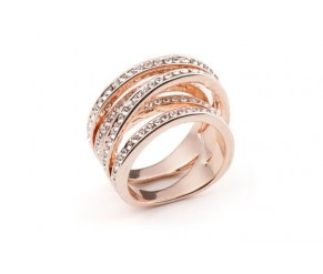 Twist ring rose gold VipDeluxe