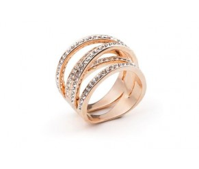 Twist ring yellow gold VipDeluxe