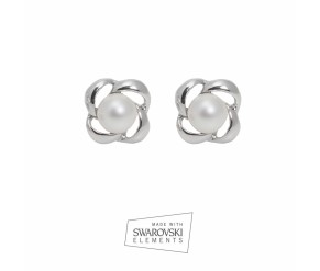 ESPIRAL PERLA BLANCA EARRINGS VipDeluxe