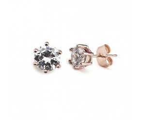 Earrings rose gold plated Crystal VipDeluxe