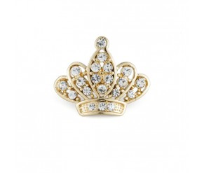 BROOCH GOLD PLATED CROWN VipDeluxe