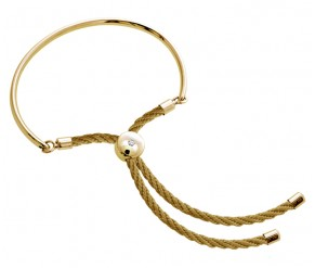 Bali Bracelet in 14k Gold with Gold DIAMOND STYLE