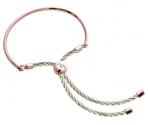 Bali Bracelet in Rose Gold with Cream DIAMOND STYLE